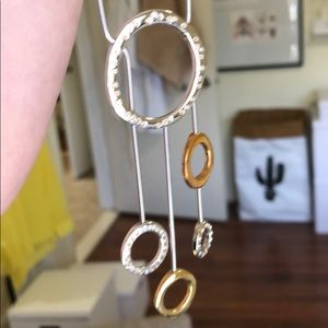 Swarovski Crystal Gold + Silver Necklace